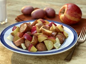 Roasted Potatoes and Apples